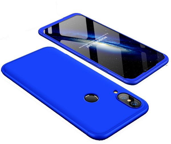 buy online f9031 1c976 Xiaomi Mi S2 case 360 Degree 2 pieces Silicon products front And back With  Out Screen - Blue