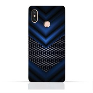 AMC Design Xiaomi Mi Max 3 Pro TPU Silicone Protective case with Abstract Blue Mesh Pattern