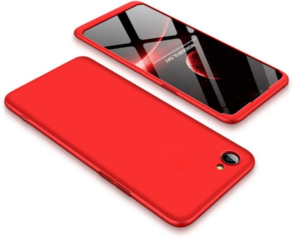 info for 43d45 8f8ac Oppo F7 Youth case 360 Degree 2 pieces Silicon products front And back With  Out Screen - Red