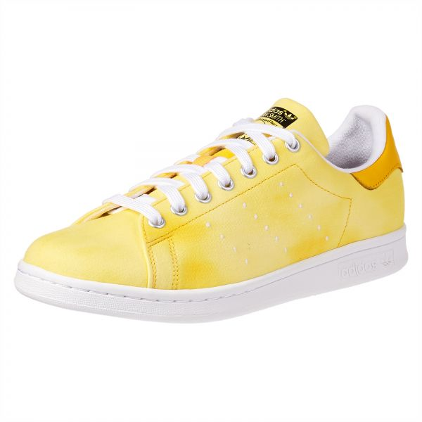 9927c1fb6c57a adidas Originals Pharell Williams PW HU Holi Stan Smith Sneaker for Men -  Yellow   White