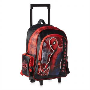 1ce33e20810f Marvel Spider Man Movie School Trolley Bag for Boys - Multi Color