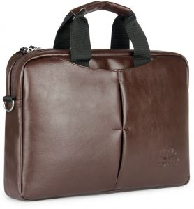 b62b66ae20 The Clownfish 15.6 Inch Brown Leatherette Tablet   Laptop Bag   Messenger  Bag   Briefcase