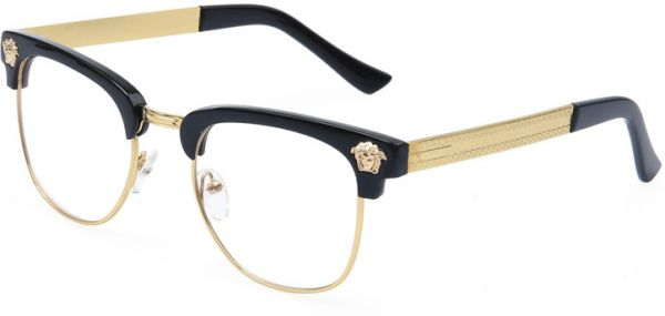 Framed Glasses Half Frame Flat Mirror Tide Glasses | Souq - UAE