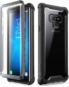 newest 70299 d7f7f Galaxy Note 9 Case, i-Blason Ares Series Full-Body Rugged Clear Bumper &  Built-in Screen Protector Black