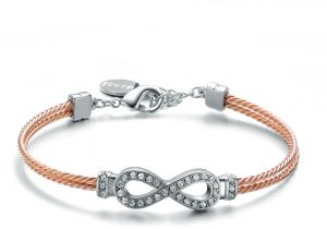 50cf6e42c73c0 Mestige Women s Infinity Friendship Bracelet in Rose Gold with Crystals  from Swarovski