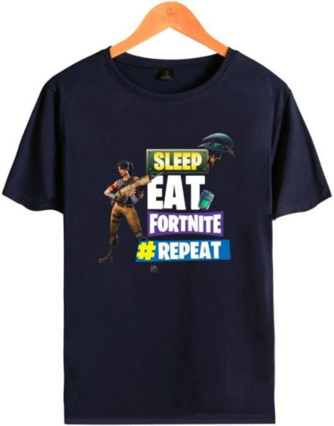 Multi Color Round Neck T Shirt For Unisex Fortnite Game Printing
