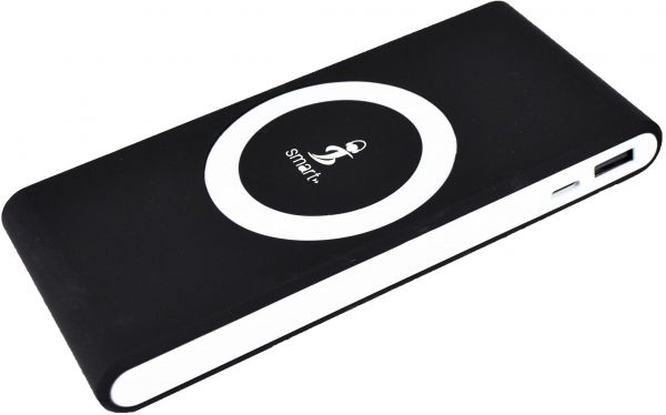 Air Connect PRO Premium Wireless Power Bank 7000 mAh includ Wireless  Charging Pad & USB Cable & USB Port - Black