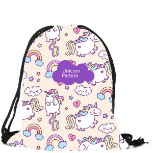 Unicorn Storage Bag Children s Holiday Gift Pocket Travel Draw Beam Pocket Drawstring  Bag Storage Backpack 72621b32bae3a