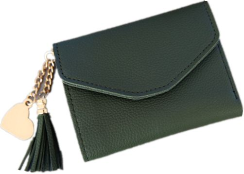 011b250d74c7 green woman Wallets Tassel Bifold Ladies Cluth Wristlet Wrist Strap small  and slim Handbag wallets cards holders luxury Brand wallets designer purse