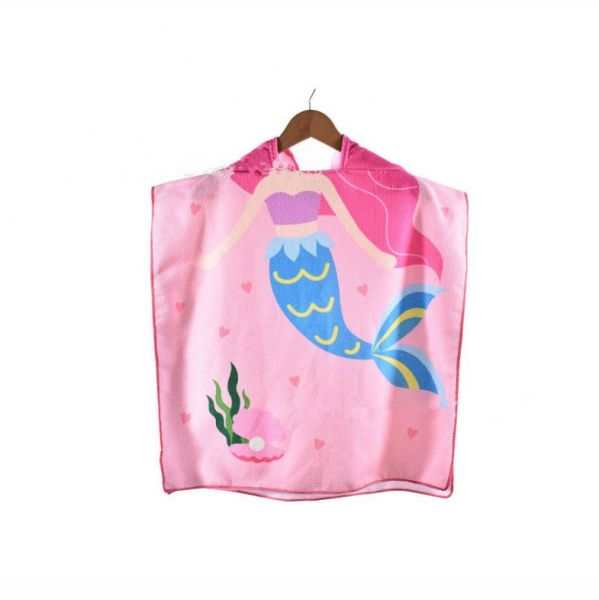 Child Poncho Towel for Beach Swimming Bath Hooded Towel 08d35f233