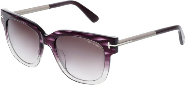 642b5d0c757 Tom Ford Women s Mirrored Tracy FT0436-83T-53 Purple Square Sunglasses