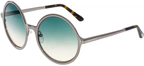 d5c65958d994 Tom Ford Women's Gradient Ava FT0572-14W-57 Silver Round Sunglasses