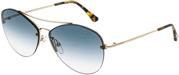 48a5212a2 Tom Ford Women's Gradient Margret FT0566-28W-60 Gold Aviator Sunglasses