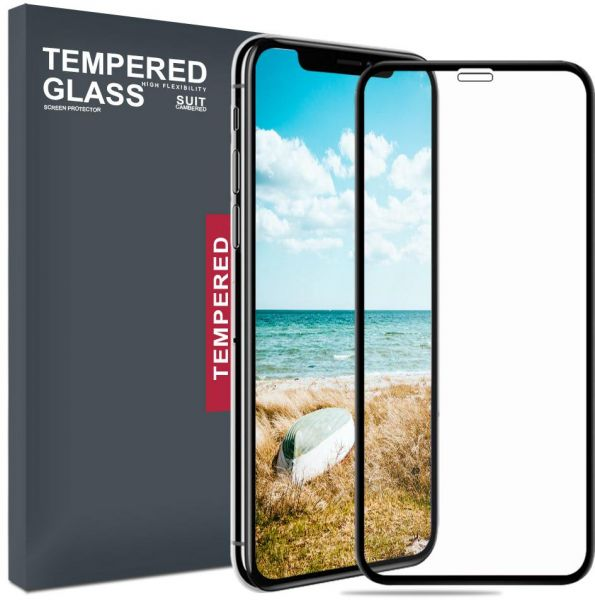 new products e1d11 0482c Apple iPhone Xs MAX Screen Protector Tempered Glass, Meidom 2-Pack 5D  Anti-Scratch Anti-Fingerprint Screen Protector for iPhone Xs MAX - Black