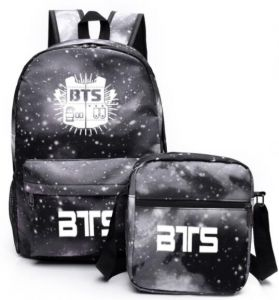 64620faa76ca KPOP BTS Bangtan boys Starry sky Casual canvas School student Bookbag  backpack Travel Rucksack Fans Fits up to 15.6 inch Laptop bag with a small  shoulder ...