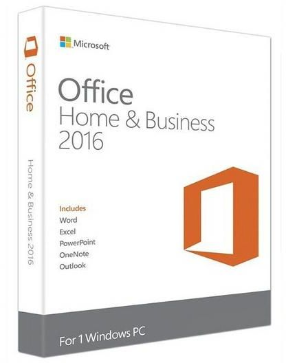 MICROSOFT OFFICE HOME AND BUSINESS 2016 32-BIT/X64 ENGLISH MIDEAST EM DVD