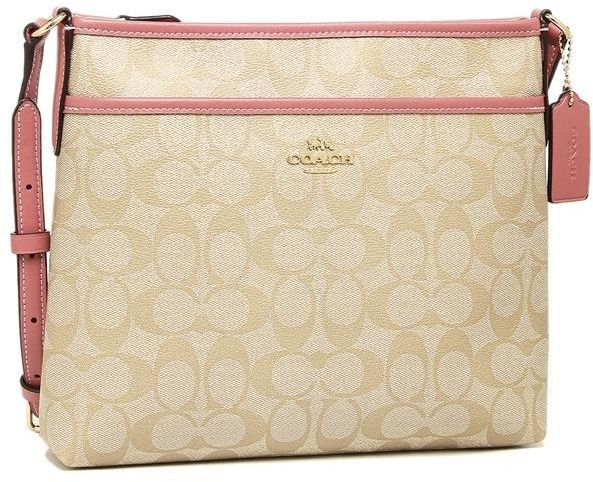 254e7825eb6 COACH F29210 File Crossbody in Signature Canvas light khaki peony ...