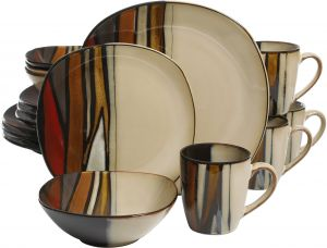 home gibson dinnerware set taupe | Gibson Elite,Lorren Home Trends ...