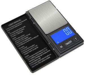 Mini Jewel Scale Weighing Gold Medicinal Weighing 0.01g Small Electronic Scale Gram Portable Pocket Scale Baking Weighing 500g/0.01g