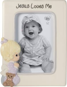 Clear Kiera Grace Magnetic Picture Frame with Square Frosted Edge 3.5 x 3.5 Inch
