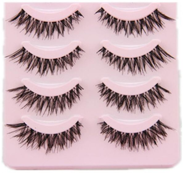 5 Pairs Natural False Eyelashes Fake Lashes Long Makeup 3d Mink
