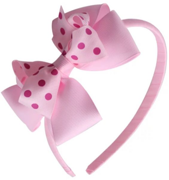 Korea Style Cute Bow Polka Dot Hair Band for Children Baby Girls - A ... 25f2d546219