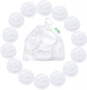 ddb809ee3 14 Pack Wegreeco Bamboo Makeup Remover Pads with LAundry Bag - Chemical  free, Reusable Soft Facial and Skin Care Wash Cloth Pads (Bamboo Cotton,  White)