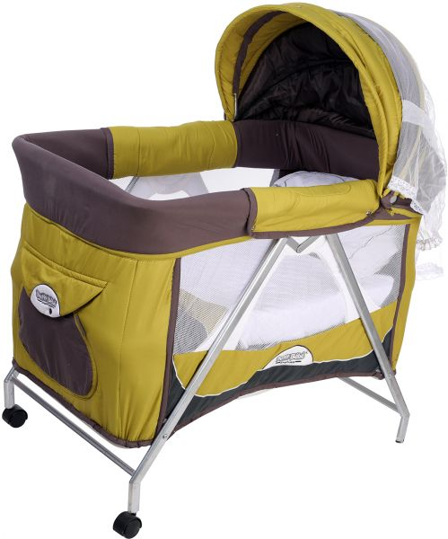 Image of: Green Baby Furniture In Petit Bebe 10400172 Oval Smart Rocking Mini Baby Crib With Accessories Green