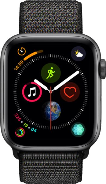 Apple Watch Series 4 - 40mm Space Gray Aluminum Case with Black Sport Loop, GPS, watchOS 5