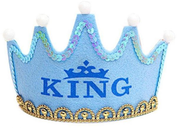 Upgrade Colorful Crown Led Happy Birthday Cap Non Woven Hat King