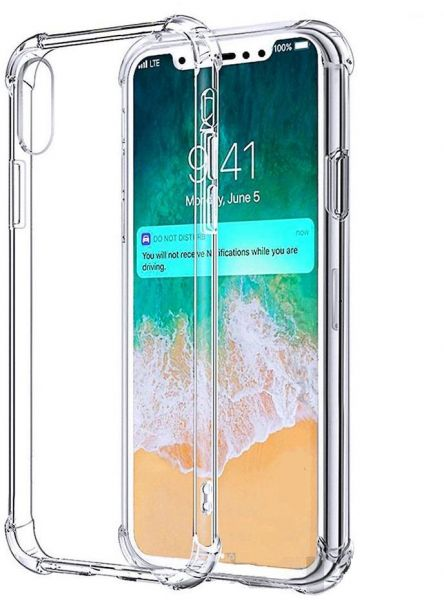 big sale 63116 90bfe iPhone XS Max Shockproof Case Cover Soft TPU Case Clear Hard Corner Cover  For iPhone XS Max - By Muzz