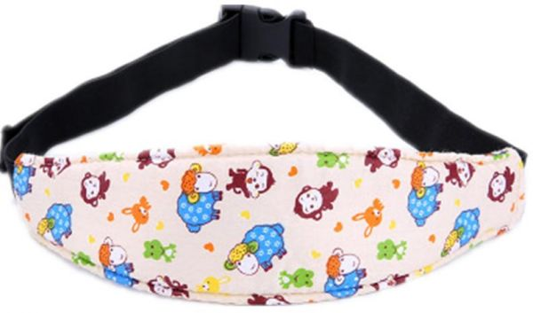 Infants And Baby Head Support Band Carseat Straps Covers Slumber Sling Toddler Car Seat Sleep Positioner Monkey
