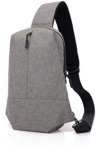 09ae52597360eb Dark Grey Fashion Simple Design Women Men One Strap Shouder Canvas Backpack  Chest Pack Sling Crossbody Purse Sports Hiking Cycling Casual Bags