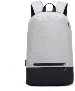 1e2609733e Business Student Men s 17 Inch Laptop Notebook Backpacks Casual School Bag  with USB Earphone Ports