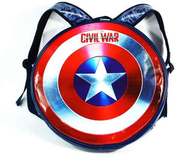 1745c18cec2a Cool Anime Marvels Captain America Shield Pattern Student School Backpack  Fashion Unisex Round Bookbag Schoolbag Bags for Boys Girls Toddler