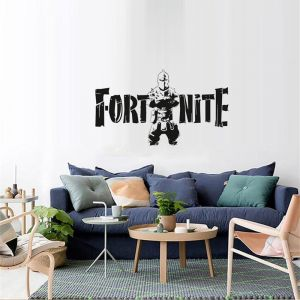 Black Fortress Night Fortnite Game Wall Stickers Metallic Effect View Home Devor Wall Decal Removable Home Design Wallpaper Poster Murals For Living
