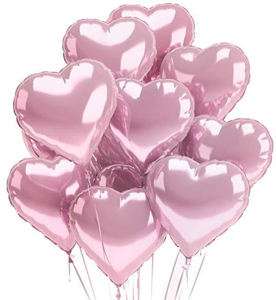 Pink Heart Balloons 30pcs Pack 18inch Shaped Love For Wedding Decoration Party Birthday Gorgeous Balloon Decorations