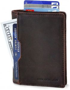 723a9234991a Wallets for Men Slim Mens leather RFID Blocking Minimalist Card Front  Pocket Bifold Travel Thin
