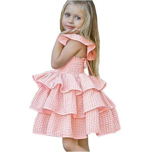 beeb627e50d Girl s Dress Infant Girls Plaid Print Cake Backless Tutu Princess Dresses  for 18 Month Baby Girl