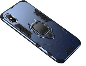 Apple iPhone Xs MAX 6.5inch Case with Ring Holder Magnetic Suction Bracket for Car Kickstand Shell Cover