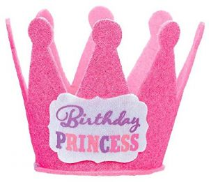 965181524d1 Amscan Pretty in Pink Birthday Princess Mini Glitter Hat Party Accessory