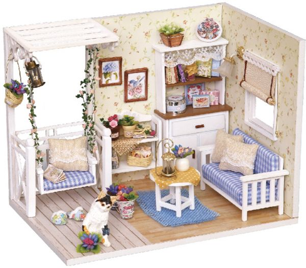 Diy Miniature Dollhouse Kit Realistic Mini 3d Wooden House Room