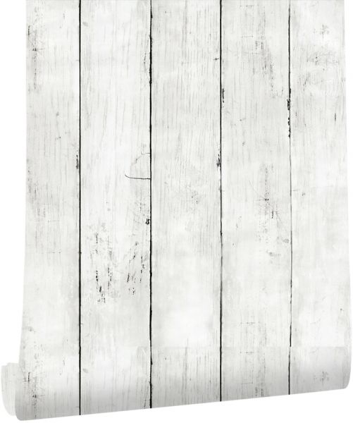 Haokhome Wood Plank Wallpaper Off White Self Adhesive