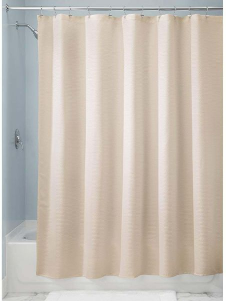 Interdesign Polyester Paxton Beige 72 Inch X Shower Curtain