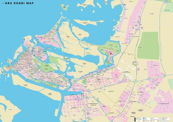 Easy Map Advertising Abu Dhabi Map 2D | KSA | Souq