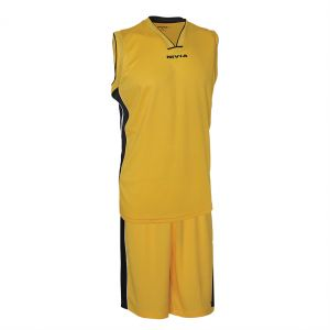Nivia Panther Basketball Jersey Set for Men - Yellow