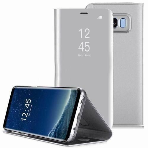 san francisco 7ef72 111c7 Samsung Galaxy Note 9 Clear View Stand Cover Case - Silver