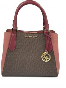 a5e49f306212 Michael Kors Kimberly Small Womens Satchel Mulberry Brown