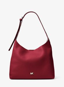 cee57baaa0f8 MICHAEL KORS Junie Medium Leather Shoulder Bag - Maroon 30T8TX5H2L