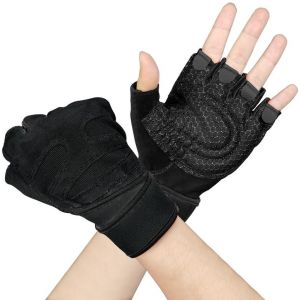 Work Out Gloves Weight Lifting Gym Sport Exercise Training Half